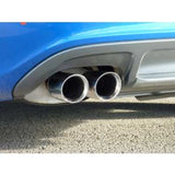 Milltek Cat Back Non Resonated Exhaust - 80mm GT Quad Tips - B8 S4 3.0T