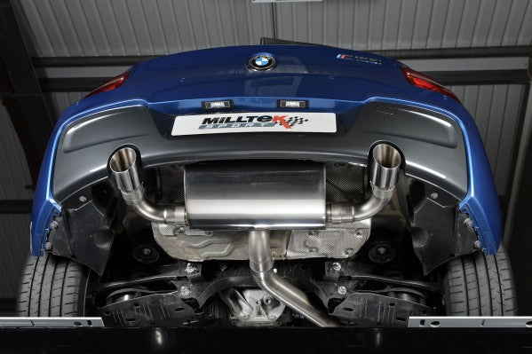 Milltek Non-Resonated Rear Silencer Race Version - Polished Black Tips - BMW M 135 F21 & F20