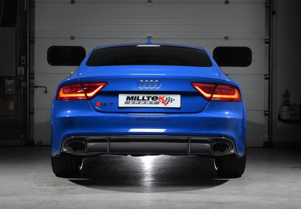 Milltek Resonated Full Exhaust System with 100 Cell Cats - Uses OE Tips - RS6 / RS7