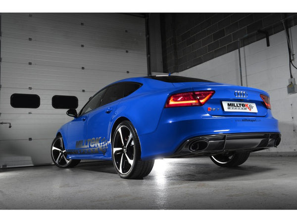 Milltek Non Resonated Full Exhaust System with 100 Cell Cats - Uses OE Tips - RS6 / RS7