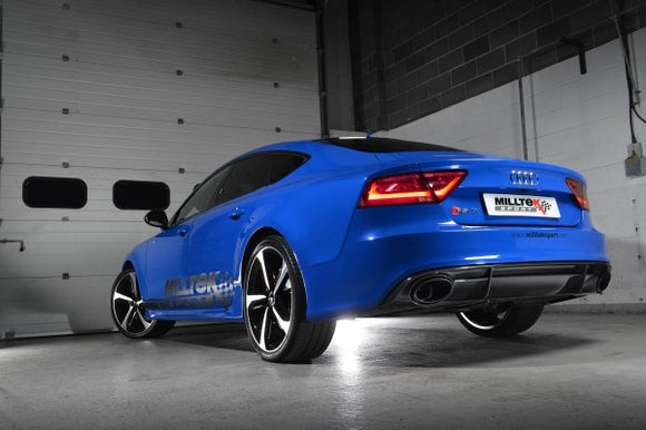 Milltek Road+ Full Exhaust System with 100 Cell Cats - Uses OE Tips - RS6 / RS7