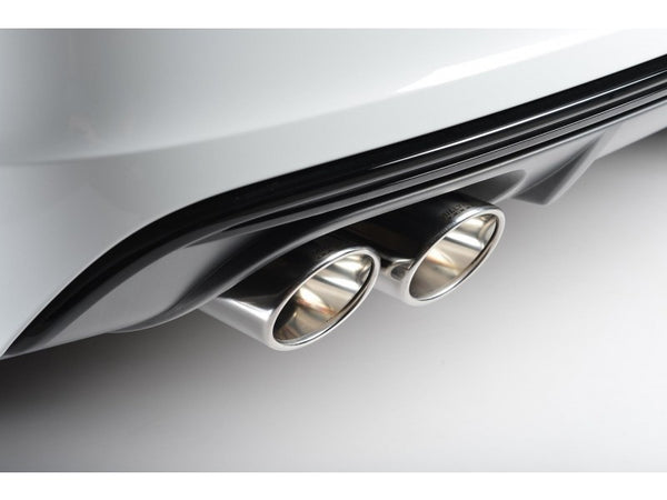 Milltek Non-Resonated Cat Back Exhaust With Quad Oval Polished Tips  - Audi S3 2.0 TFSI Quattro Sedan 8V