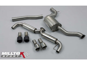 "Milltek 3"" Race Cat Back Exhaust - Polished Tips - MK6 GTI 2.0T"