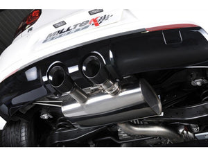 "Milltek 3"" Race Resonated Cat Back Exhaust - Black Velvet Tips - MK6 Golf R"