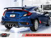 AWE Track Edition Exhaust for 10th Gen Civic Si Coupe / Sedan (includes Front Pipe) - Triple Chrome Silver Tips
