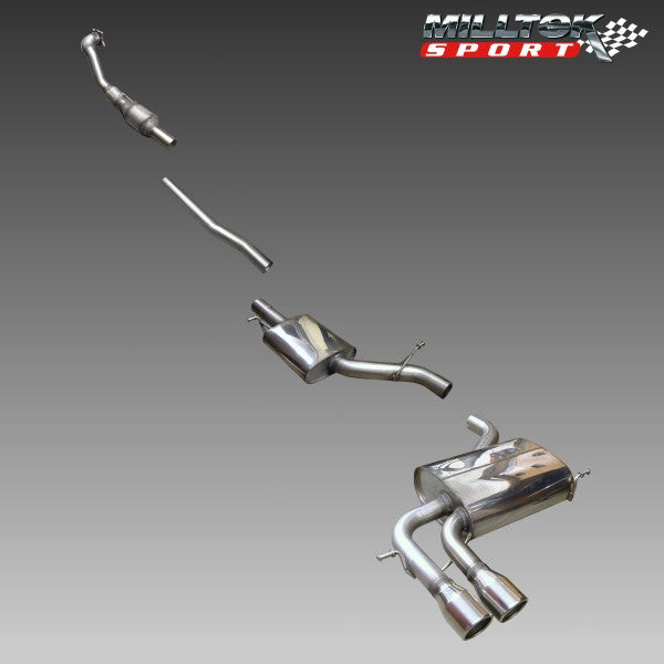 Milltek Turbo Back Resonated Exhaust - A3 2.0T FSI quattro SportBack