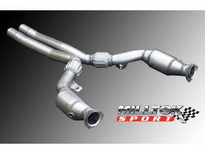 Milltek High Flow Sport Catalytic Converters - Tiptronic - B6 & B7 S4 4.2 V8 quattro