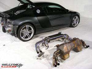Milltek Cat Back Non Resonated - R8 V8 4.2 FSI quattro - Removes Secondary catalysts. Uses OEM tips