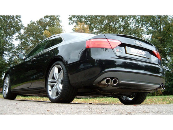 Milltek Cat Back Non Resonated Exhaust - 80mm Jet Quad Tips - S5 Coupé 4.2 V8 quattro
