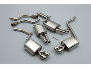 Milltek Cat Back Resonated Exhaust - 80mm GT Quad Tips - B8 S4 Sedan & S5 Sportback 3.0T quattro