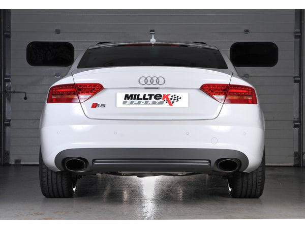 Milltek Cat Back Non Resonated Exhaust - Black Oval Tips - S5 Sportback 3.0T quattro