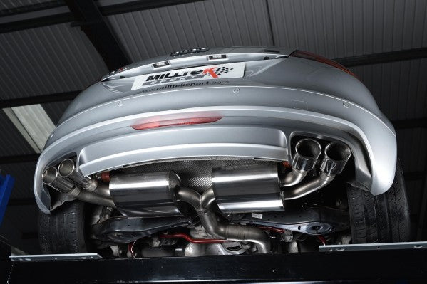 Milltek Non-Resonated Cat-Back Race Exhaust With Polished Silver Tips - Audi TTS Quattro Mk2