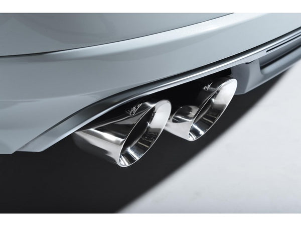 Milltek Non-Resonated Cat Back Exhaust With Polished Tips  - Audi S8 4.0 TFSI Quattro Tiptronic