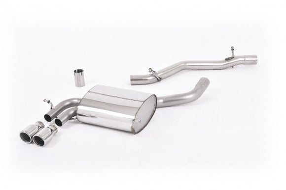 Milltek Sport Non Resonated Cat Back Exhaust - Twin 76.2mm Jet Tips - Audi A3 3.2 Quattro