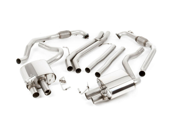 Milltek NON-RESONATED CAT-BACK EXHAUST SYSTEM B9 S5 Coupe/Cabrio B9 (Non Sport Diff Models Only)