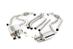 MILLTEK NON-RESONATED CAT-BACK EXHAUST SYSTEM B9 S5 COUPE/CABRIO NON SPORT DIFF CERAKOTE BLACK OVAL TIPS