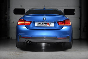Milltek Non-Resonated Cat-Back Exhaust With 435i Style Dual Outlet Polished Tips - Manual Without Tow Bar - N20 Engine Code