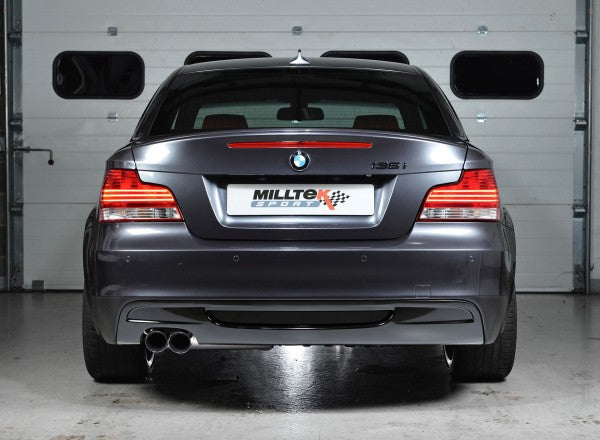 Milltek Resonated Secondary Cat Back Exhaust - BMW 135i Coupe & Cabriolet N54/N55