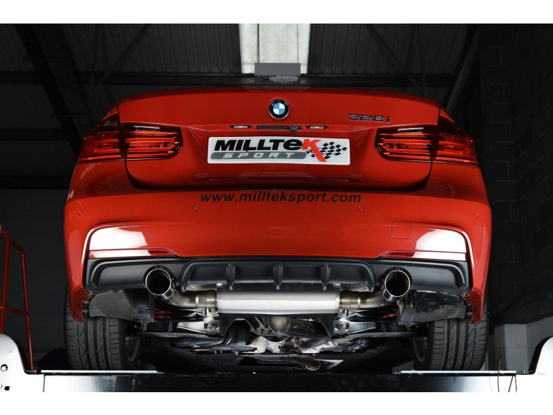Milltek Cat Back Exhaust Race Verison - BMW F30 328i M Sport Automatic  (without Tow Bar & N20 Engine Code)