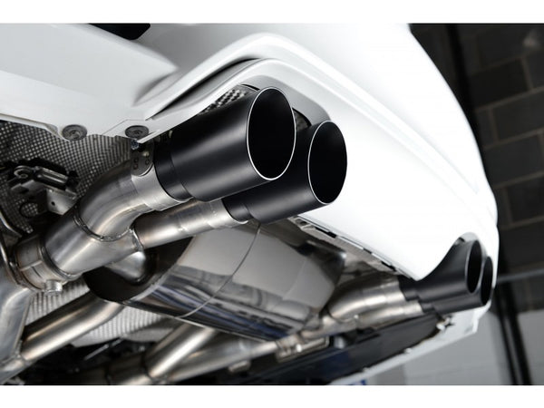 Milltek Cat Back Exhaust With Cerakote Black Tips - BMW M3 (F80) / M4 (F82)