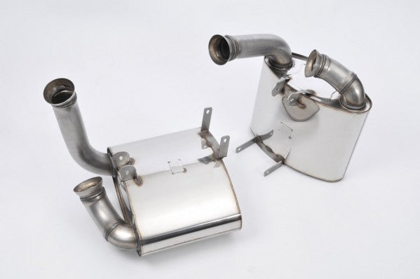 Milltek Rear Muffler - Cup version (offers a powerful GT3-like sound) - Uses OE Tips - 997.1 Carrera and Carrera S