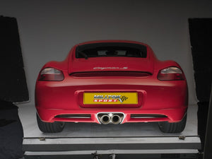 "Milltek 2.13"" Cat Back Exhaust - Exc. Rear Catalysts - Twin 90mm Cerakote Black Tips - Cayman S / Boxster S"