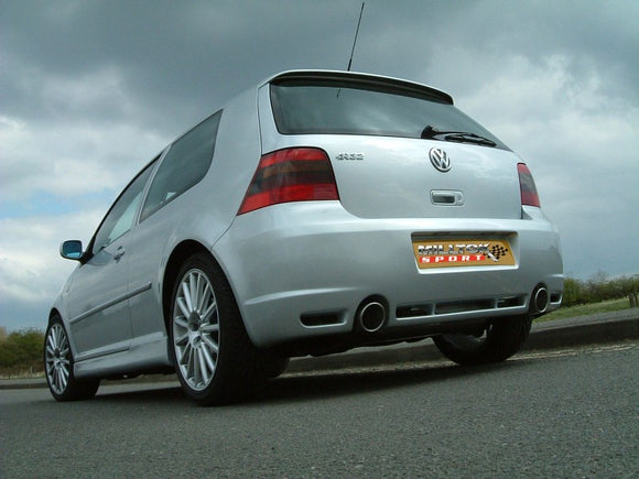 Milltek Non Resonated Cat Back Exhaust - 100mm Jet Tips- MK4 Golf R32