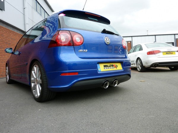 Milltek Resonated Cat Back Exhaust - MK5 Golf R32