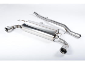 Milltek Non Resonated Cat Back Exhaust - GT100 Tips - MK4 Golf R32