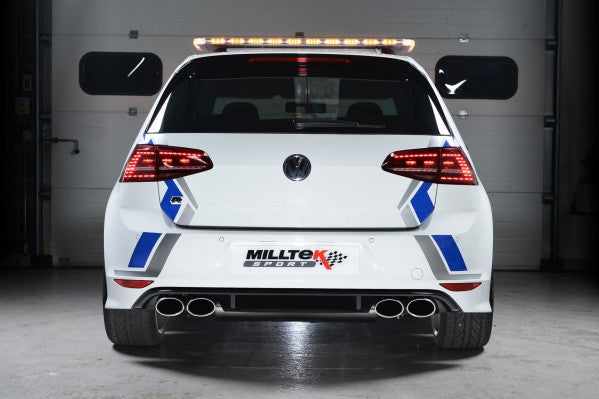 Milltek Resonated Cat-Back Exhaust With Polished Oval Tips - VW Golf R MK7