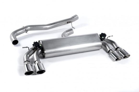 Milltek Non-Resonated Cat-Back Exhaust With Polished Oval Tips - VW Golf R MK7