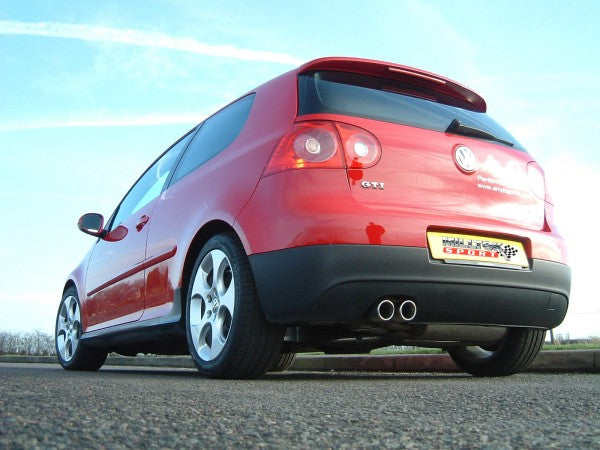 Milltek Resonated Cat-Back Exhaust With Polished Tips- VW Golf MK5 GTI 2.0T