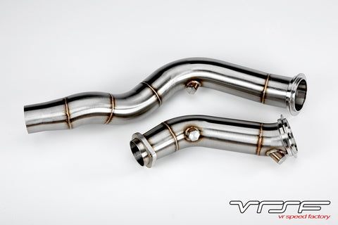 "VRSF 3"" Cast Stainless Steel Catless Downpipes S55 14+ BMW M3 & M4"