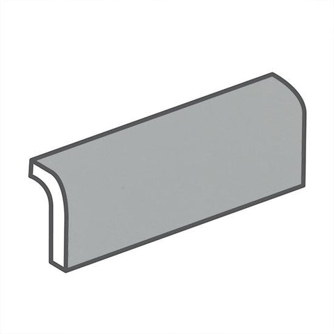 "American Olean Matte 2 x 6 Light Smoke Radius Bullnose - 6"" Side"