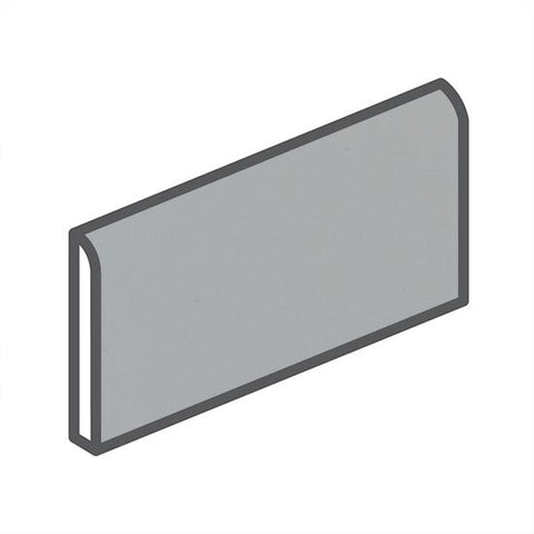 "American Olean Matte 2 x 6 Light Smoke Wall Surface Bullnose - 6"" Side"