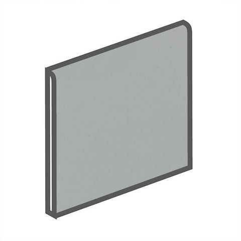 American Olean Matte 4-1/4 x 4-1/4 Light Smoke Surface Bullnose