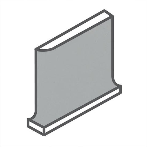 American Olean Matte 4-1/4 x 4-1/4 Light Smoke Cove Base Corner - American Fast Floors
