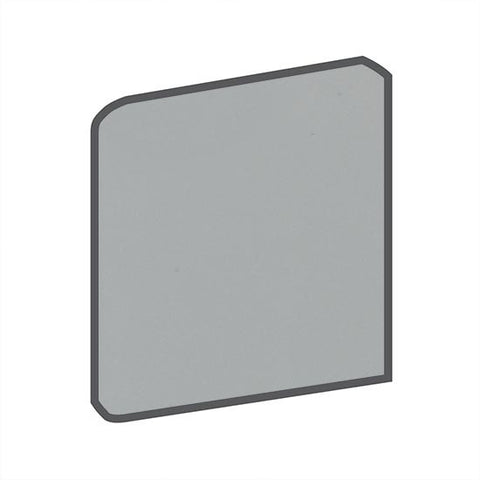 American Olean Matte 4-1/4 x 4-1/4 Light Smoke Surface Bullnose Outcorner - American Fast Floors