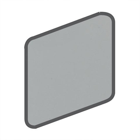 American Olean Matte 2 x 2 Light Smoke Wall Surface Bullnose Outcorner