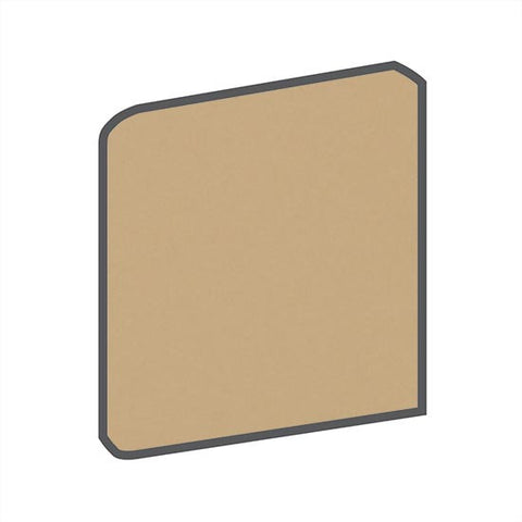 American Olean Matte 4-1/4 x 4-1/4 Cappuccino Surface Bullnose Outcorner - American Fast Floors