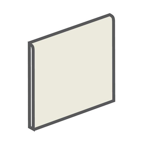 American Olean Bright 4-1/4 x 4-1/4 Gloss Almond Surface Bullnose