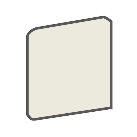 American Olean Bright 4-1/4 x 4-1/4 Gloss Almond Surface Bullnose Outcorner
