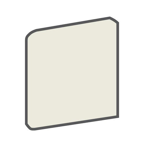American Olean Bright 6 x 6 Gloss Almond Surface Bullnose Corner (Right/Left) - American Fast Floors