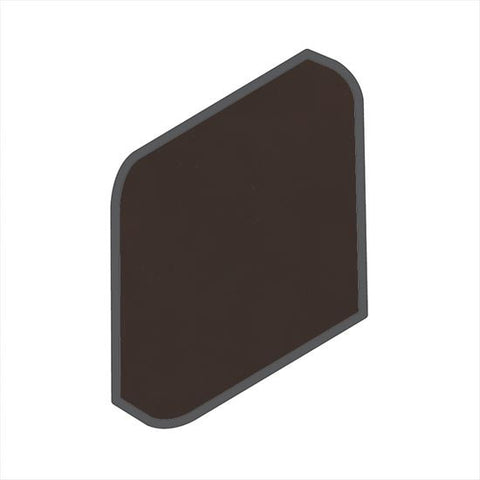American Olean Bright 2 x 2 French Roast Radius Bullnose Outcorner - American Fast Floors