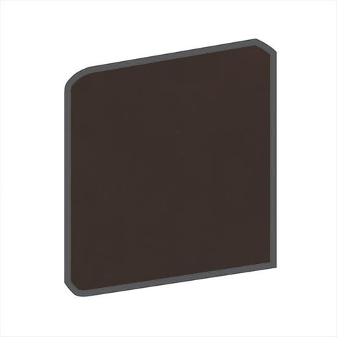 American Olean Bright 4-1/4 x 4-1/4 French Roast Surface Bullnose Outcorner