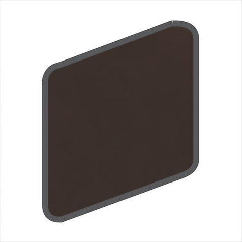 American Olean Bright 2 x 2 French Roast Wall Surface Bullnose Outcorner
