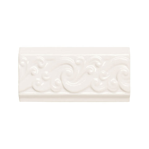 American Olean Designer Elegance 3 x 6 Ice White Curl Accent - American Fast Floors