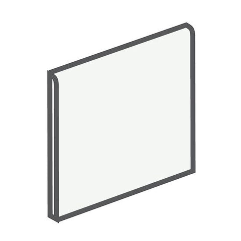American Olean Bright 6 x 6 Ice White Surface Bullnose