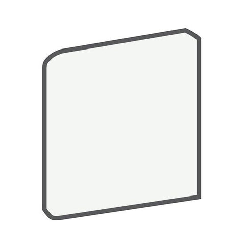 American Olean Bright 6 x 6 Ice White Surface Bullnose Corner