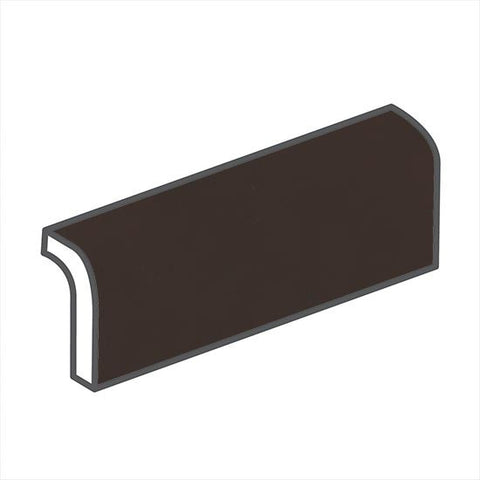 "American Olean Matte 2 x 6 French Roast Radius Bullnose - 6"" Side"